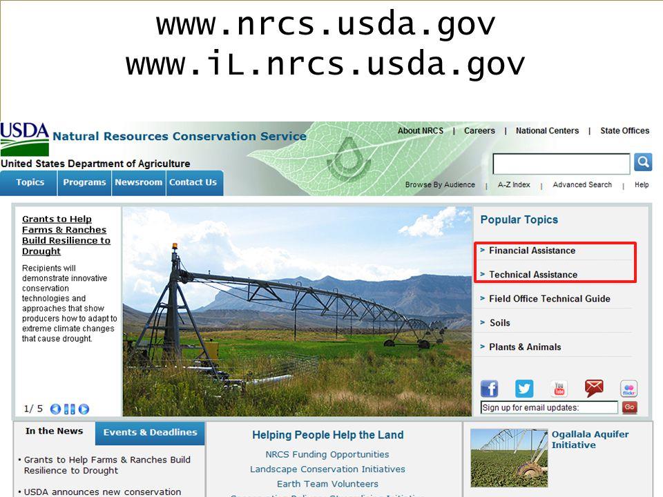 www.nrcs.usda.gov www.iL.nrcs.usda.gov
