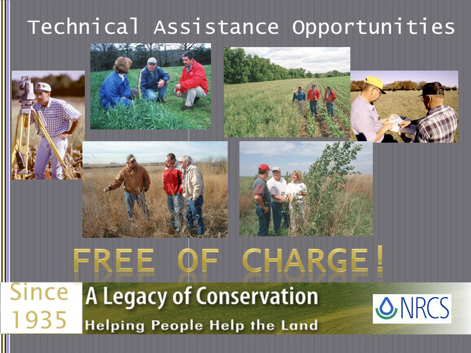 Financial Assistance Opportunities Environmental Quality Incentives Program Conservation Stewardship Program This is just an example of the most prevalent financial assistance programs and initiatives available nationally through NRCS.