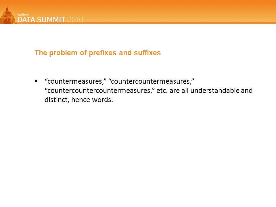 The problem of prefixes and suffixes  countermeasures, countercountermeasures, countercountercountermeasures, etc.