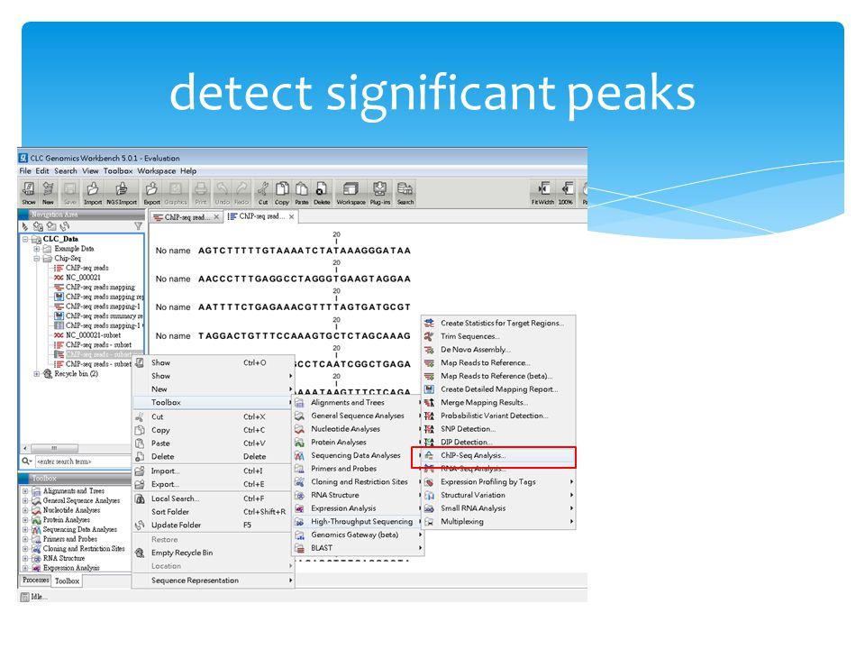 detect significant peaks