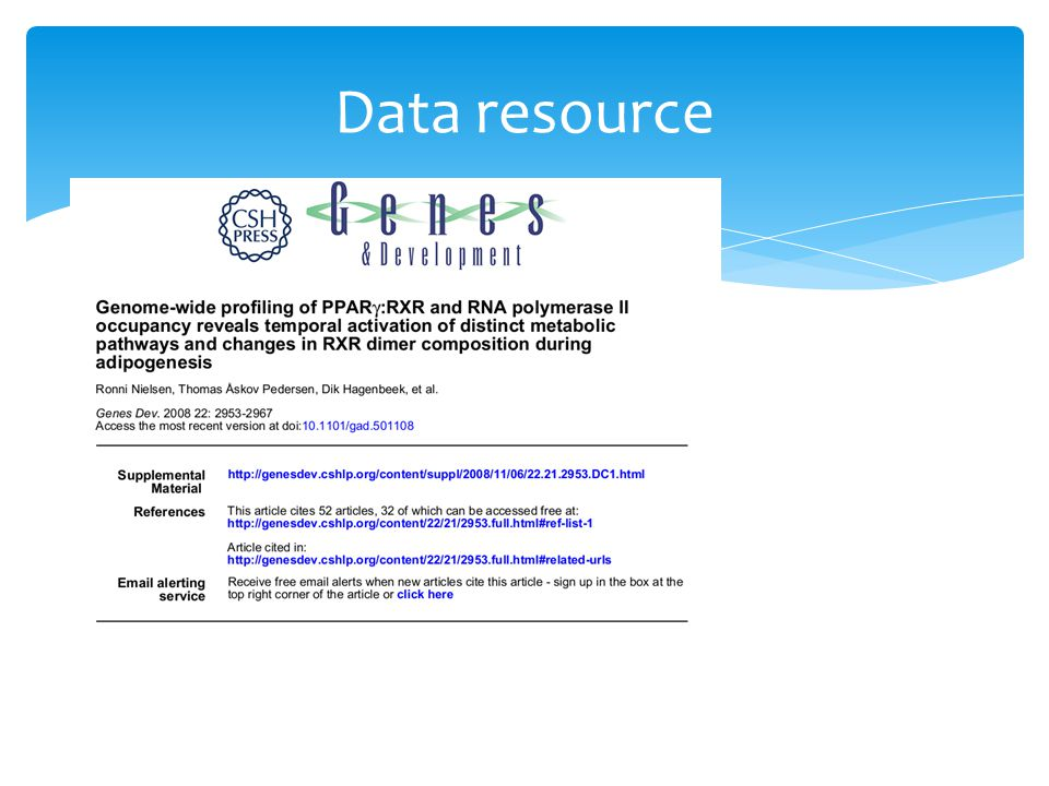Data resource