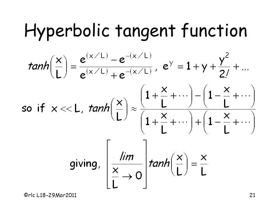 ©rlc L18-29Mar201121 Hyperbolic tangent function
