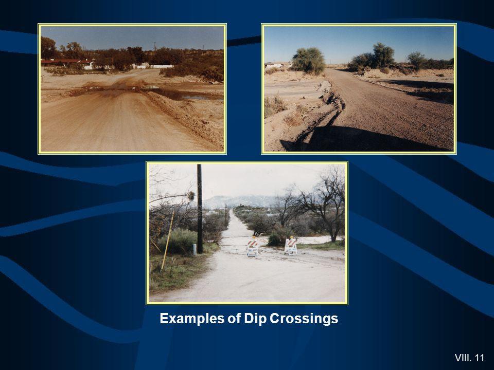 VIII. 11 Examples of Dip Crossings