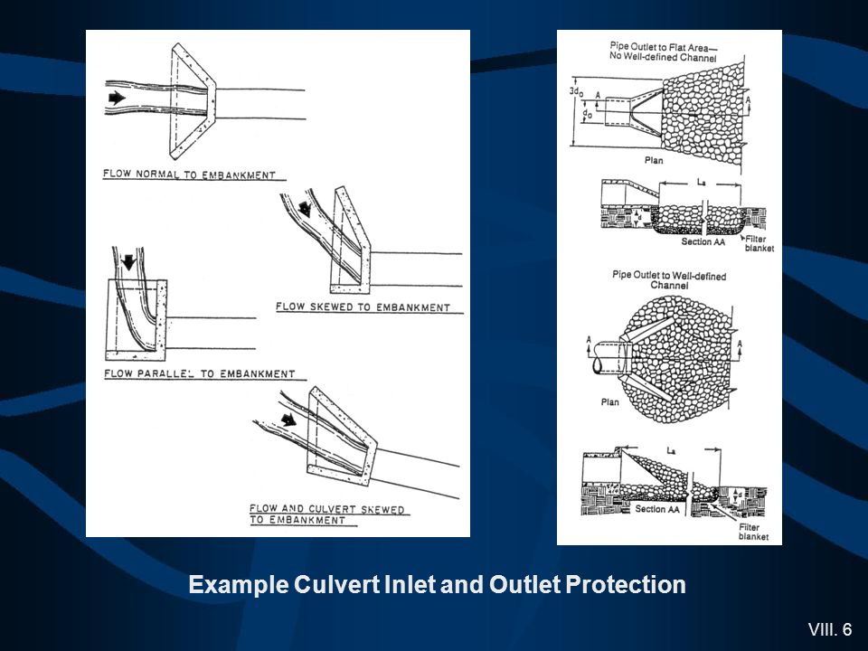 VIII. 6 Example Culvert Inlet and Outlet Protection