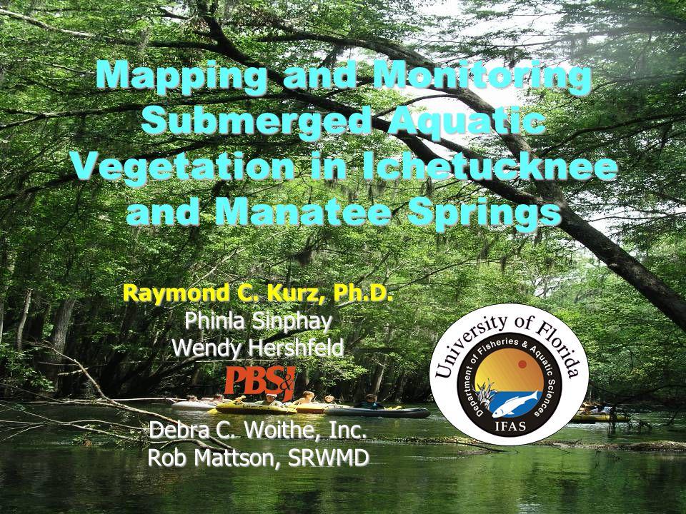 Debra C. Woithe, Inc. Mapping and Monitoring Submerged Aquatic Vegetation in Ichetucknee and Manatee Springs Raymond C. Kurz, Ph.D. Phinla Sinphay Wen