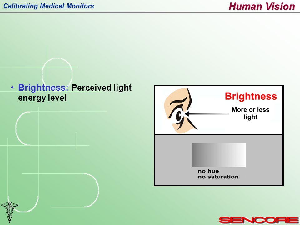 Calibrating Medical Monitors Brightness: Perceived light energy level Human Vision