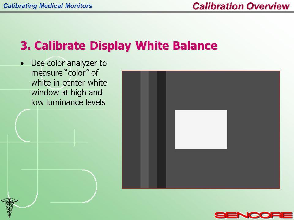 Calibrating Medical Monitors 3.