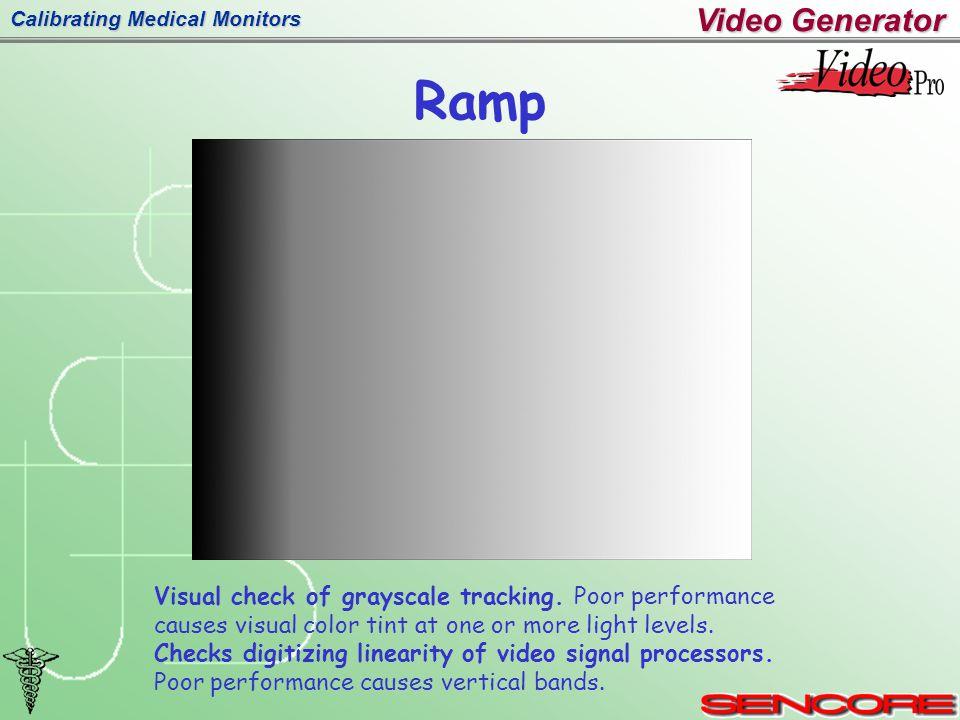 Calibrating Medical Monitors Ramp Visual check of grayscale tracking.