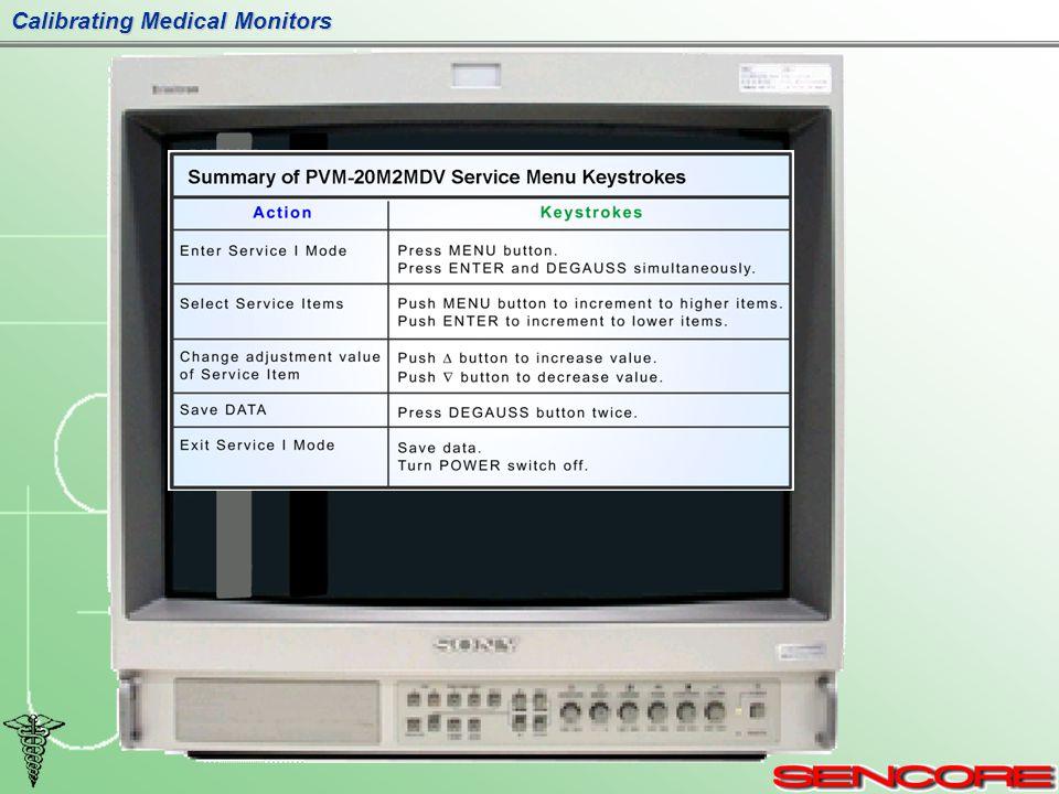 Calibrating Medical Monitors