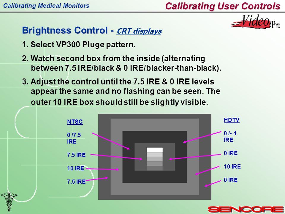 Calibrating Medical Monitors Brightness Control - Brightness Control - CRT displays 1.