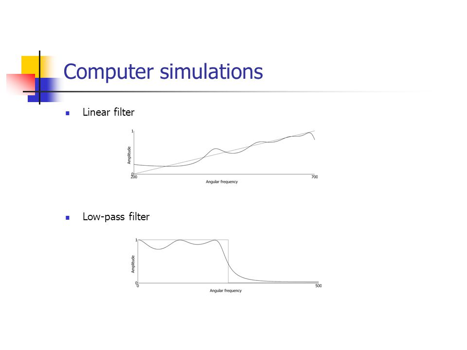 Computer simulations Linear filter Low-pass filter