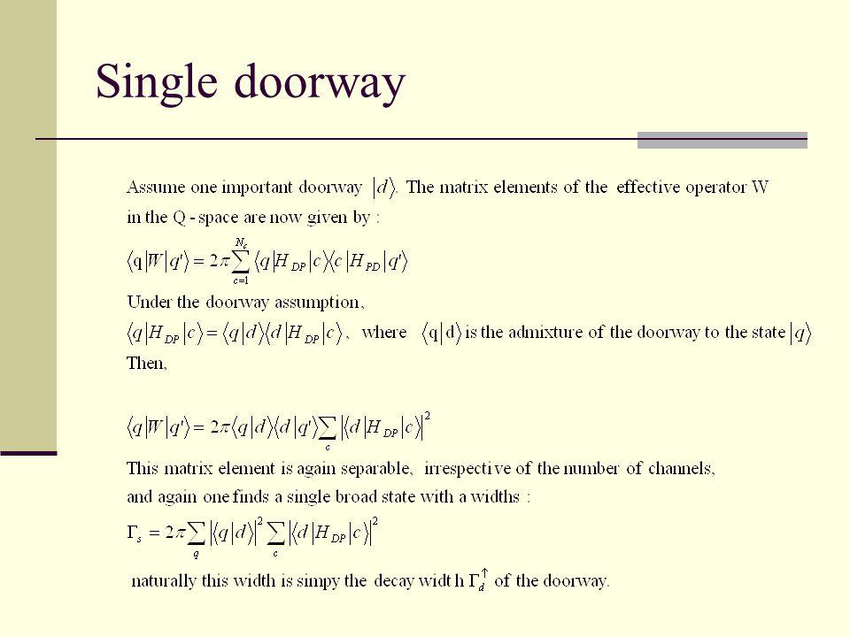 Single doorway