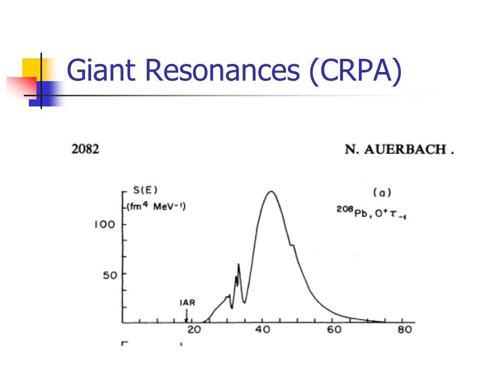 Giant Resonances (CRPA)