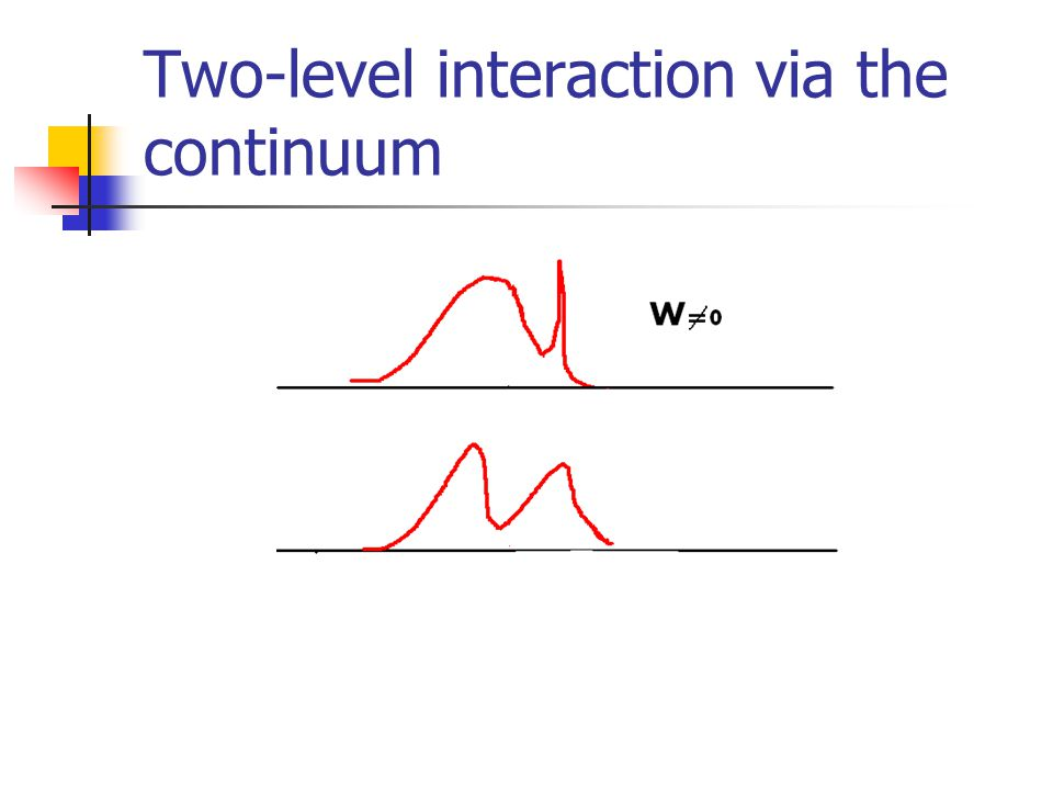 Two-level interaction via the continuum