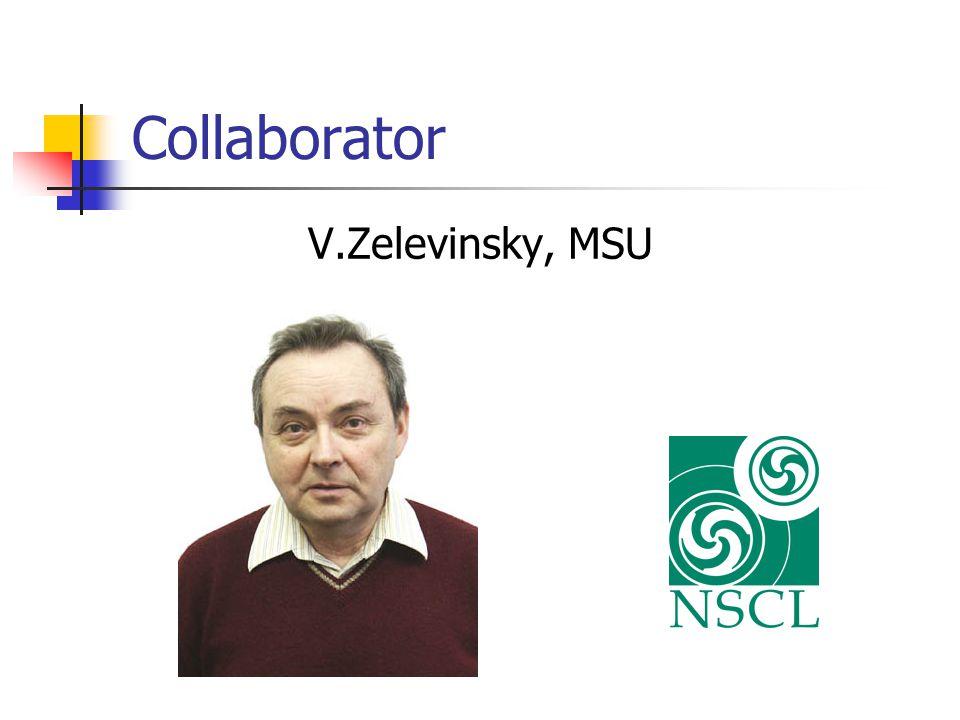 Collaborator V.Zelevinsky, MSU