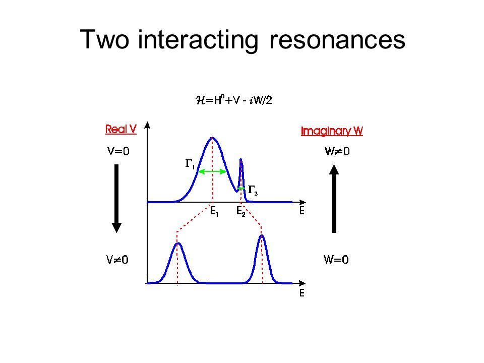 Two interacting resonances