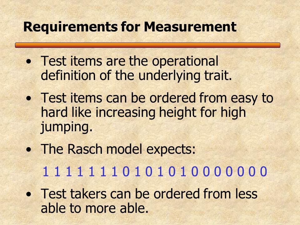 Classical Testing Theory (CTT) assumes all items are created equal But we know that is not true.