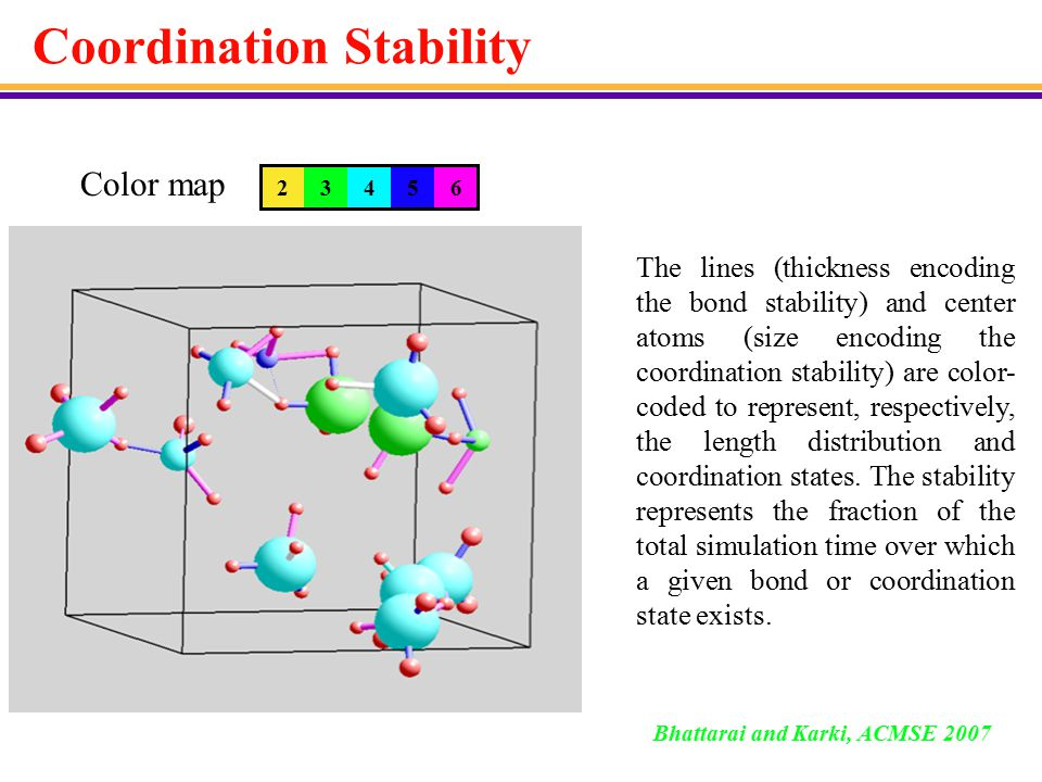 Coordination-Encoding 23456 Color map Three-, four- and five-fold coordination