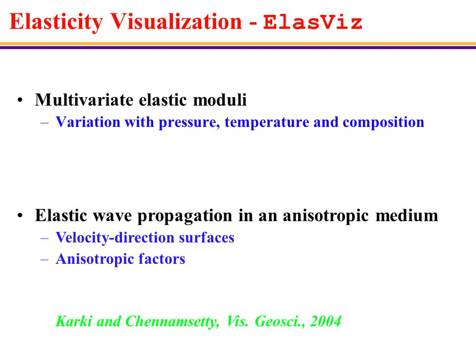 Elasticity visualization Remote execution Visualization and database server Online data reposition