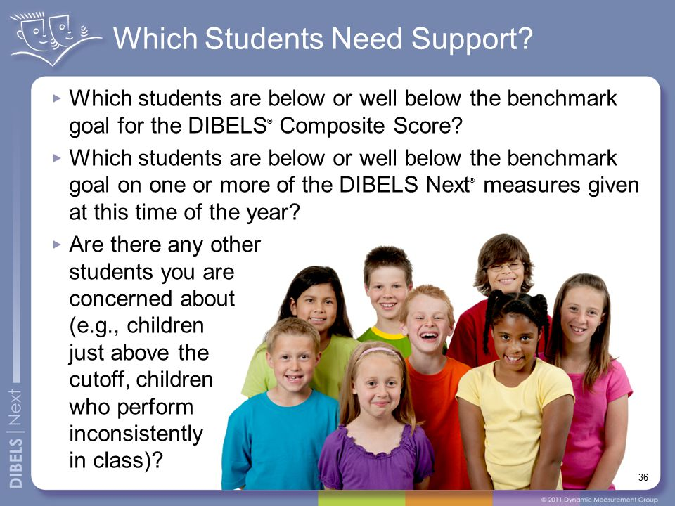 Which Students Need Support.