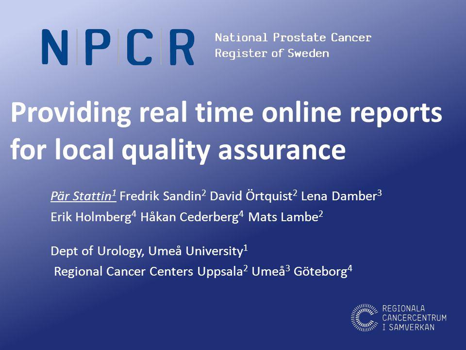 www.npcr.se median all 35 days range 24-75 days median metastases 19 days range 9-25 days