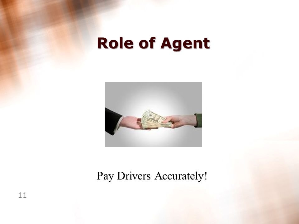 10 Role of Agent Bill Customers Accurately!