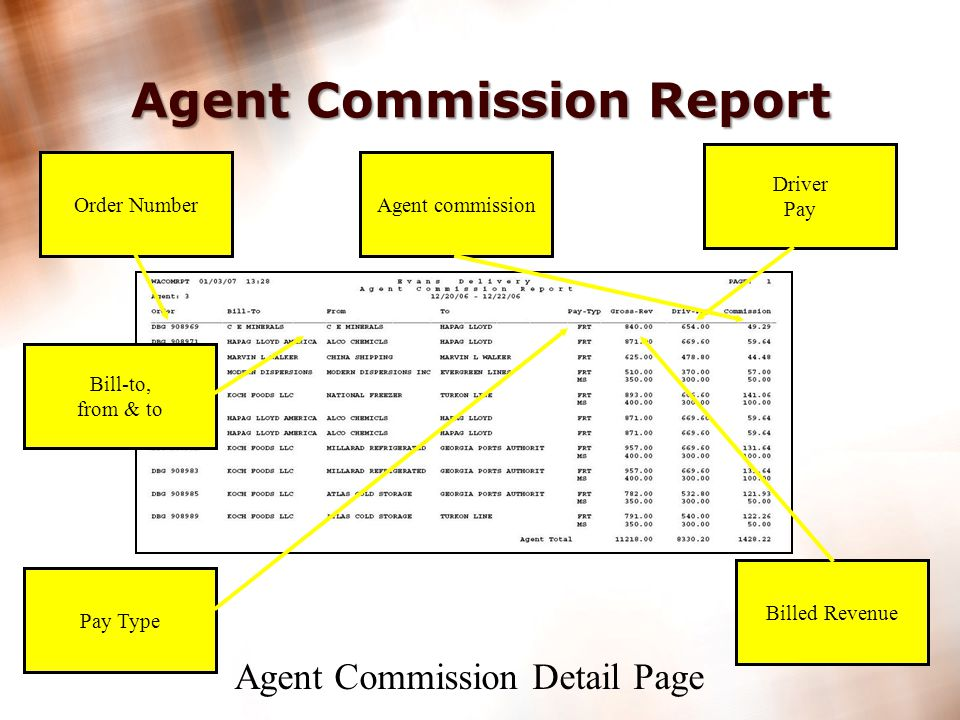 23 Print Agent Commission Report from Agent Portal. Agent Commission Report