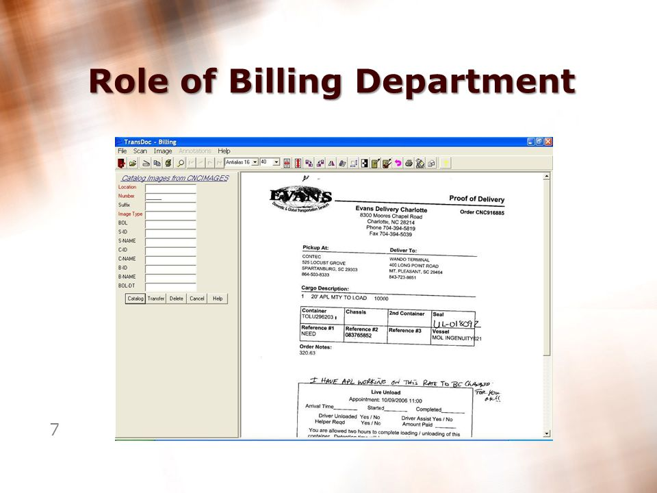 6 Role of Billing Department