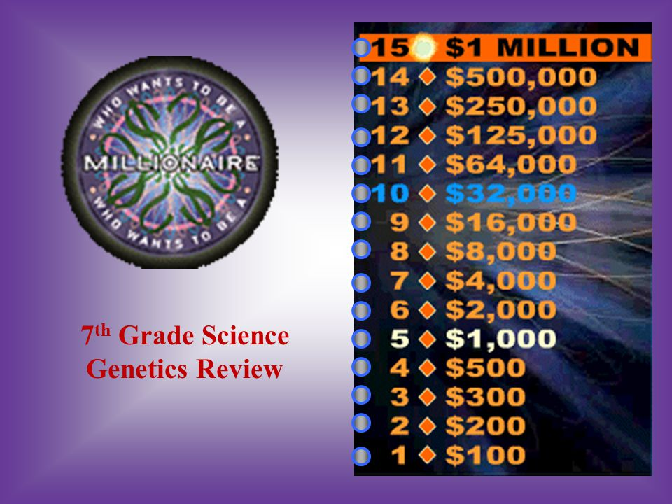 7 th Grade Science Genetics Review