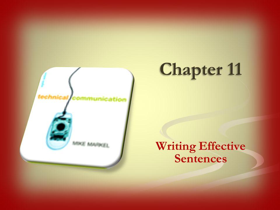 Chapter 11 Writing Effective Sentences