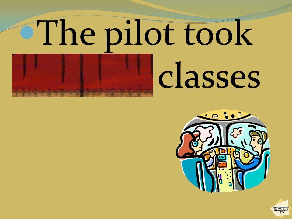 The pilot took aviation classes