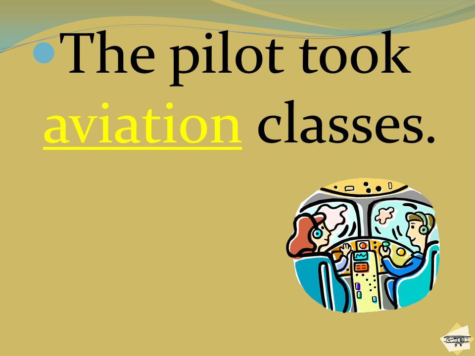 The pilot took aviation classes.