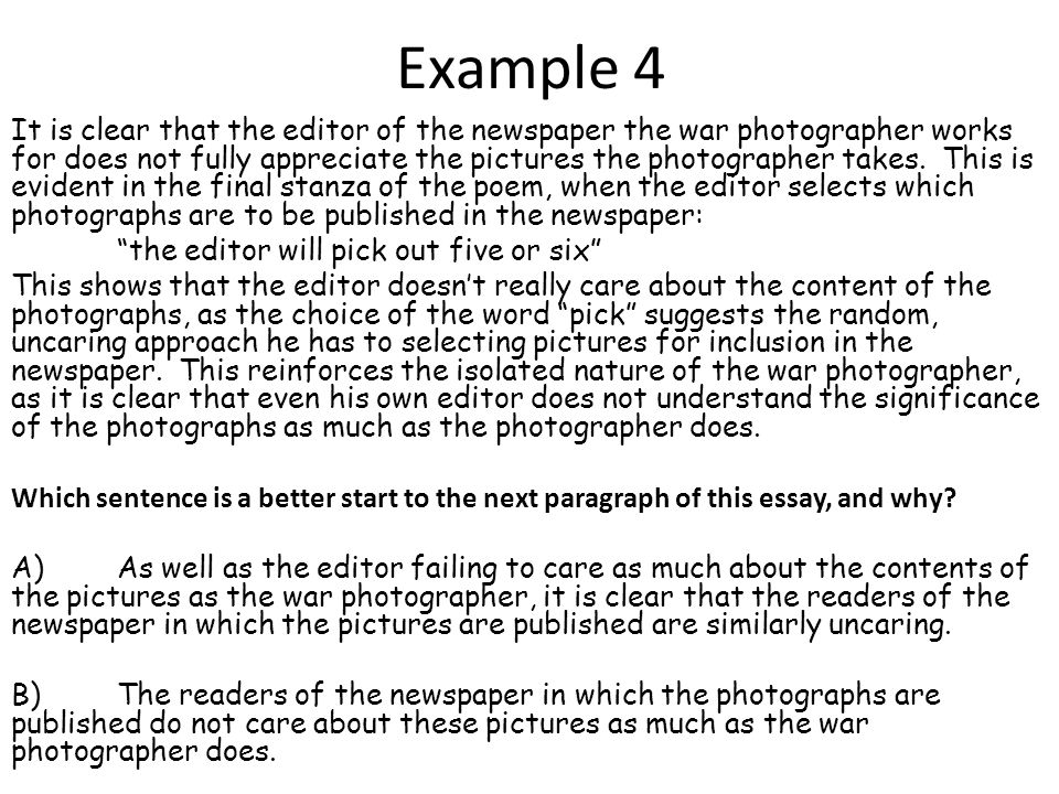 Linking your Paragraphs Any well-written piece of writing will flow as one continuous piece, despite being made up of three or four different arguments.