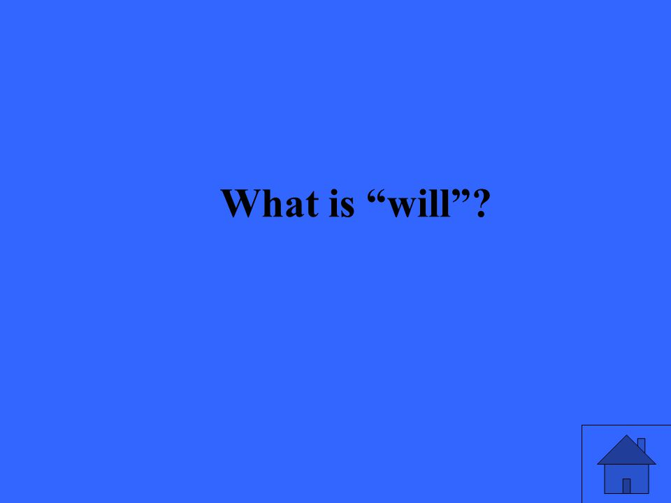 What is will