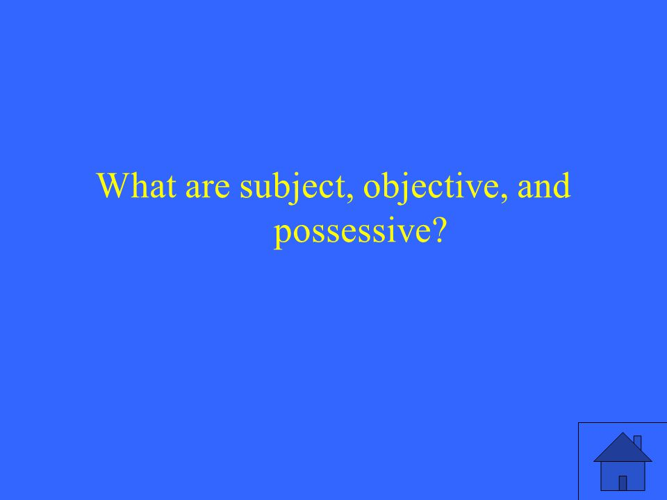 What are subject, objective, and possessive