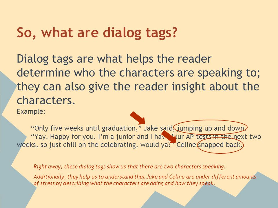 So, what are dialog tags.
