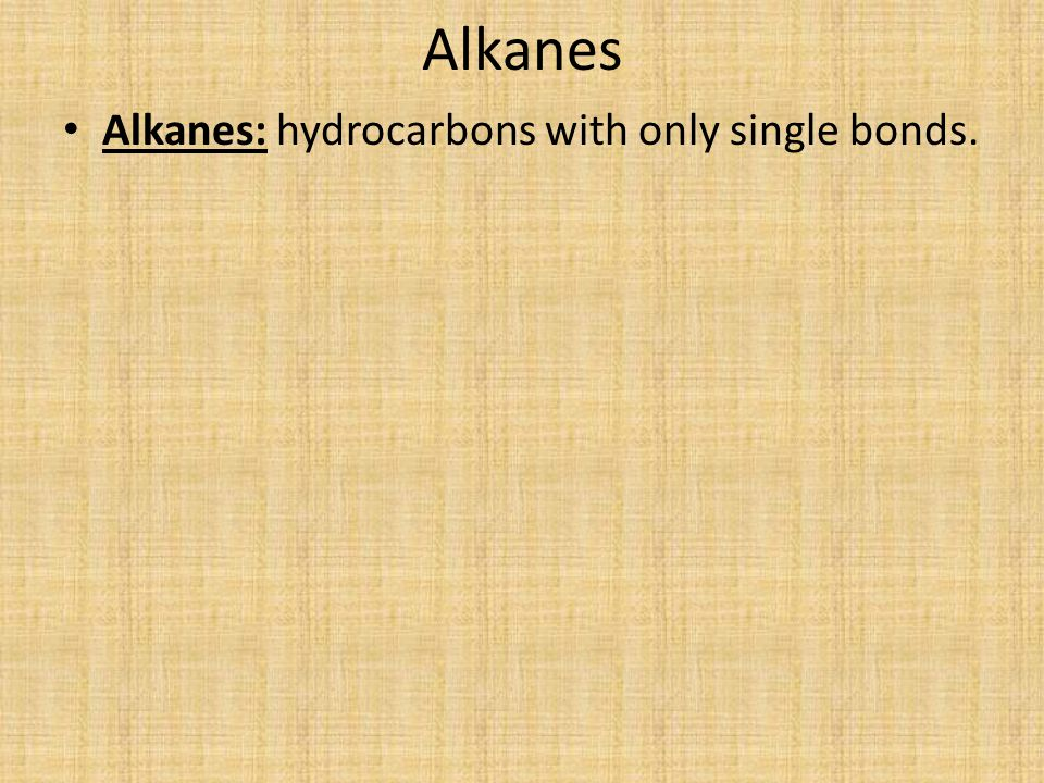 Systematic Naming of Alkanes Unbranched-Chain Alkane Nomenclature Find the prefix that corresponds to the number of carbon atoms in the chain of the hydrocarbon.