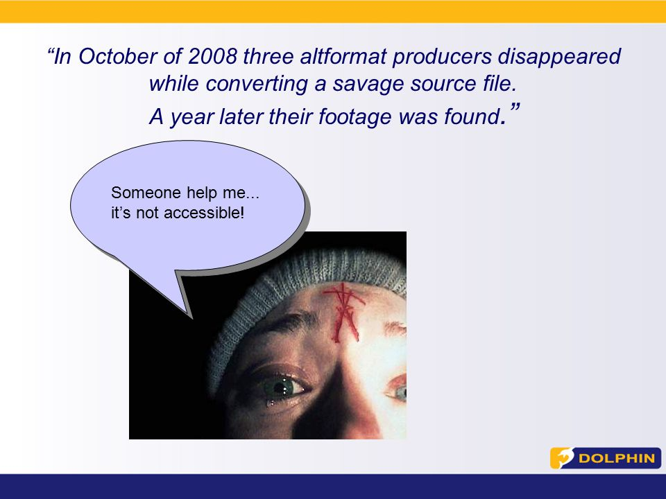 In October of 2008 three altformat producers disappeared while converting a savage source file.