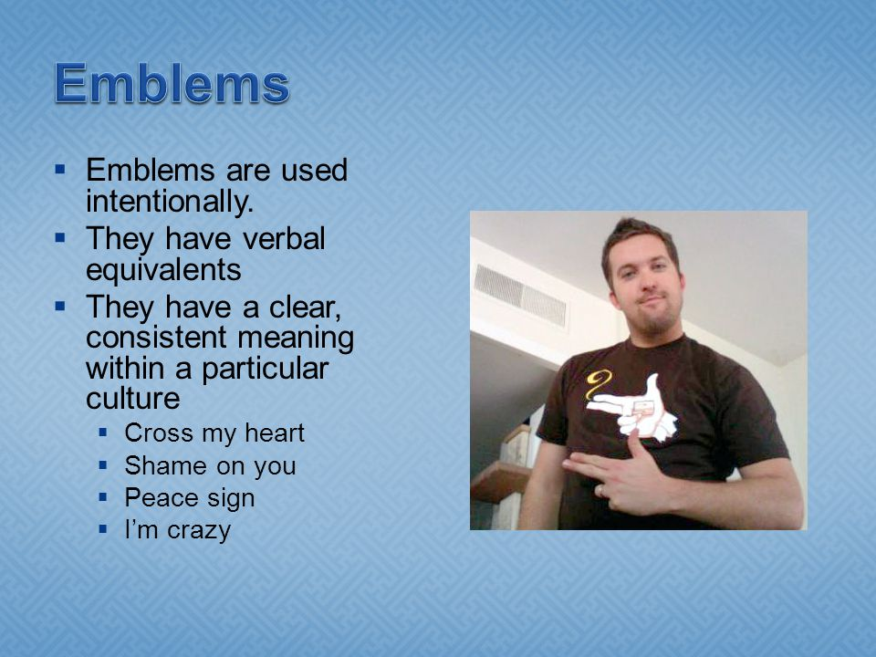  Emblems are used intentionally.
