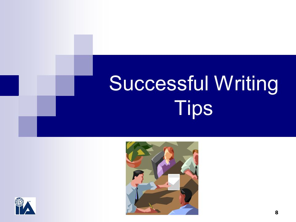 8 Successful Writing Tips