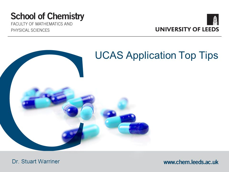 Dr. Stuart Warriner UCAS Application Top Tips