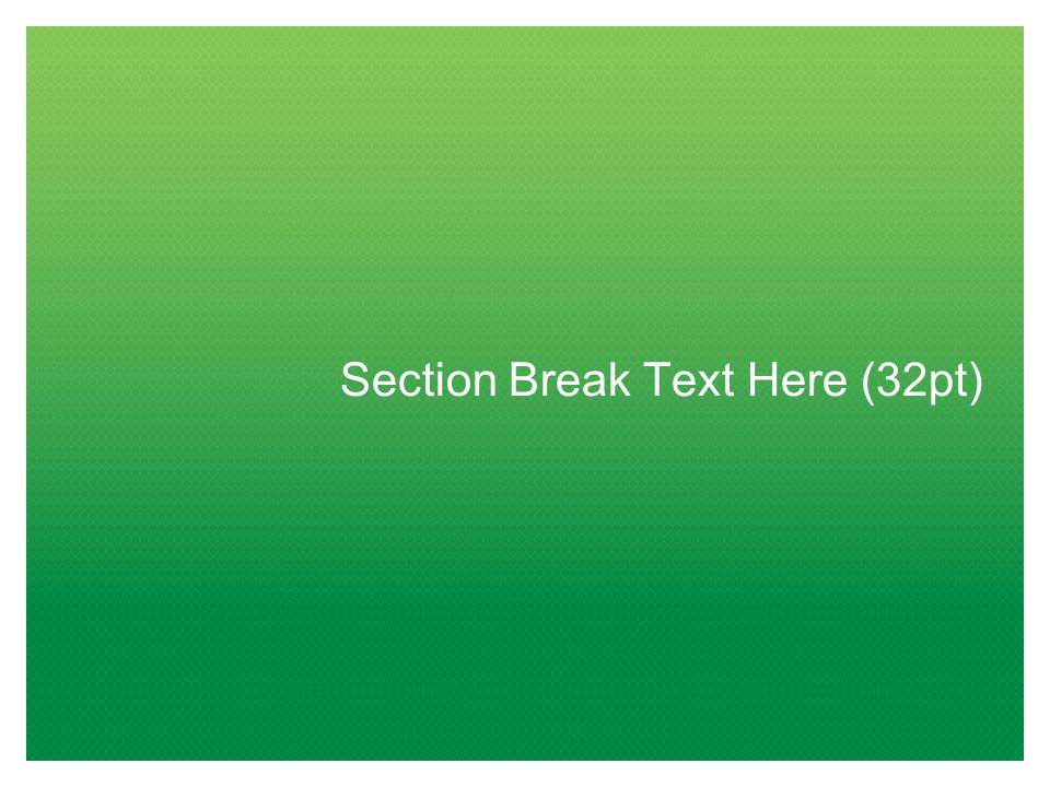 Section Break Text Here (32pt)