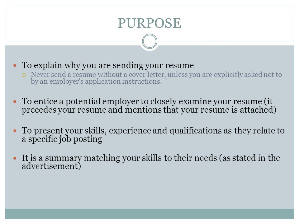 BENEFITS A cover letter is standard in the application process.