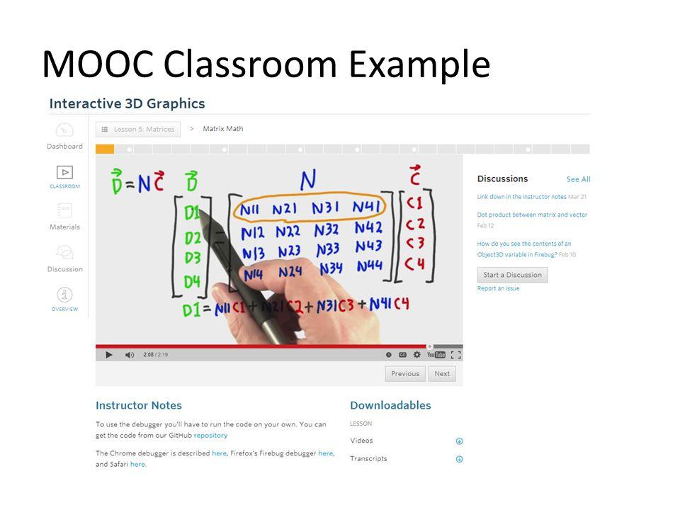 MOOC Classroom Example
