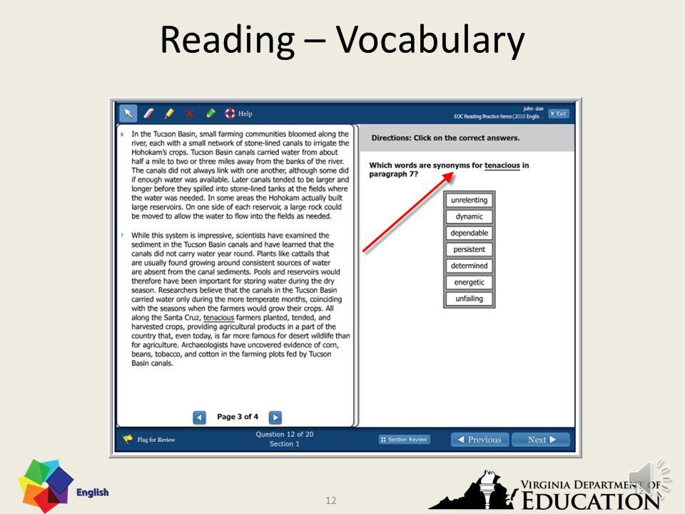 11 Reading – Vocabulary 11