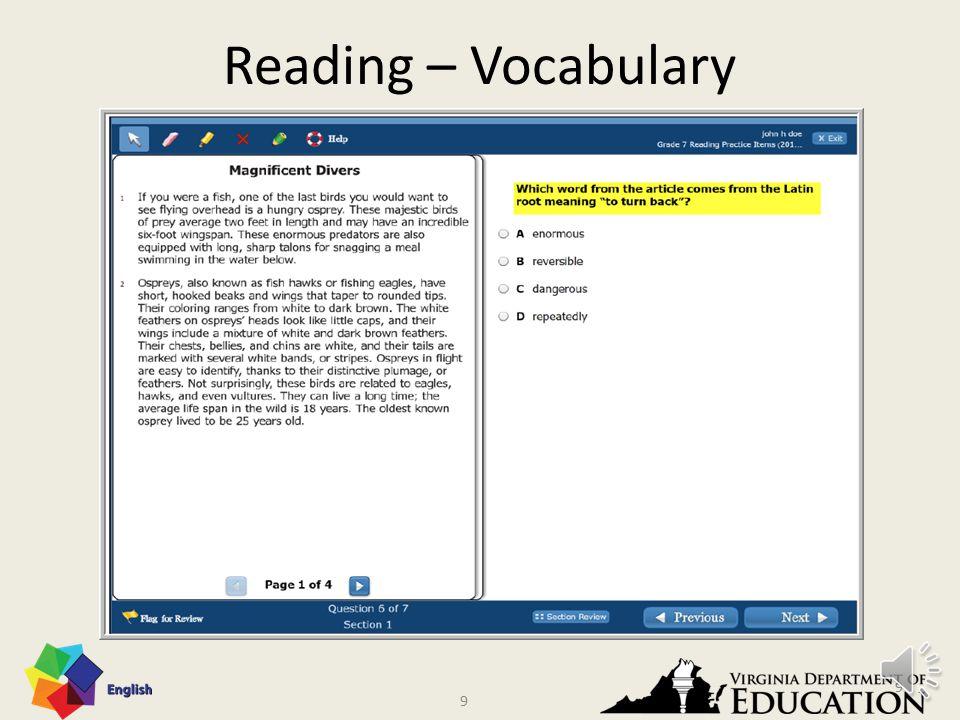 8 Reading - Vocabulary 8