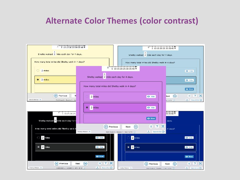 Alternate Color Themes (color contrast)