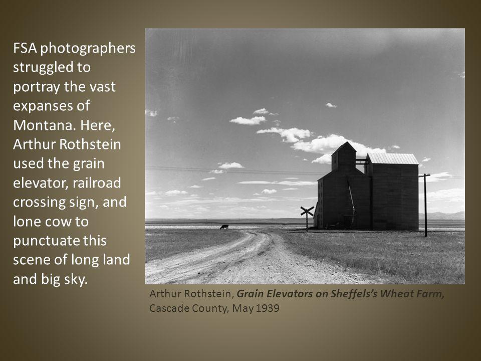 FSA photographers struggled to portray the vast expanses of Montana.
