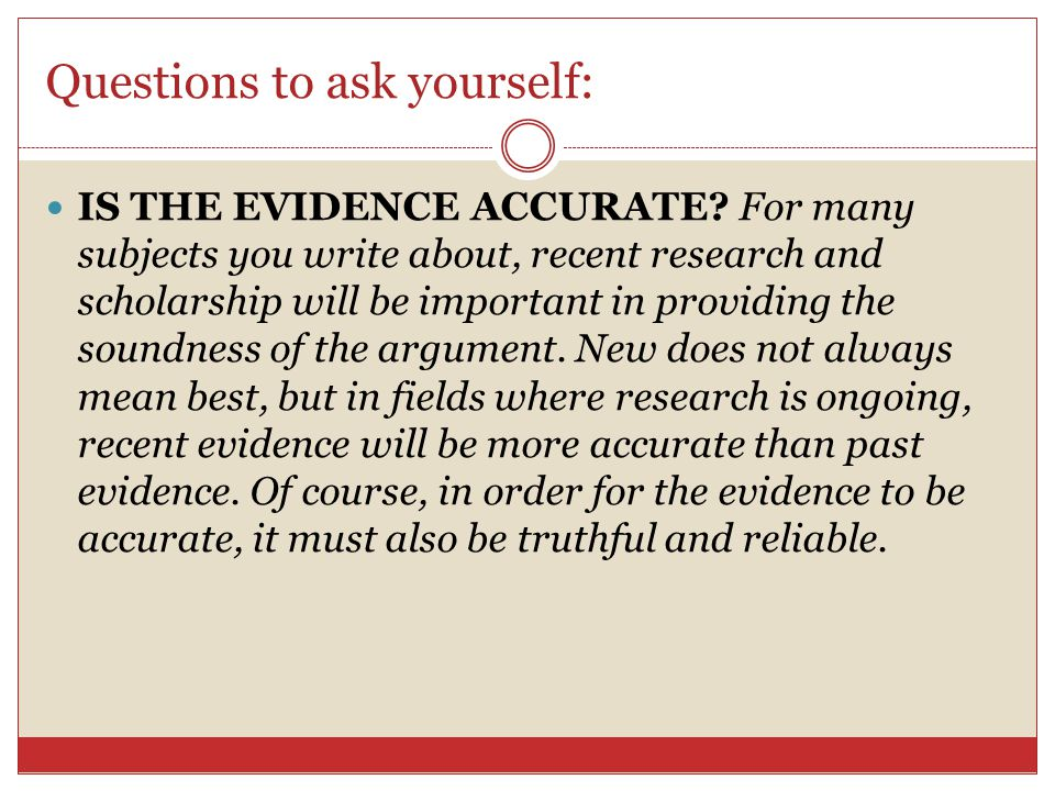 Questions to ask yourself: TO WHAT OF EPL DOES THE EVIDENCE APPEAL.