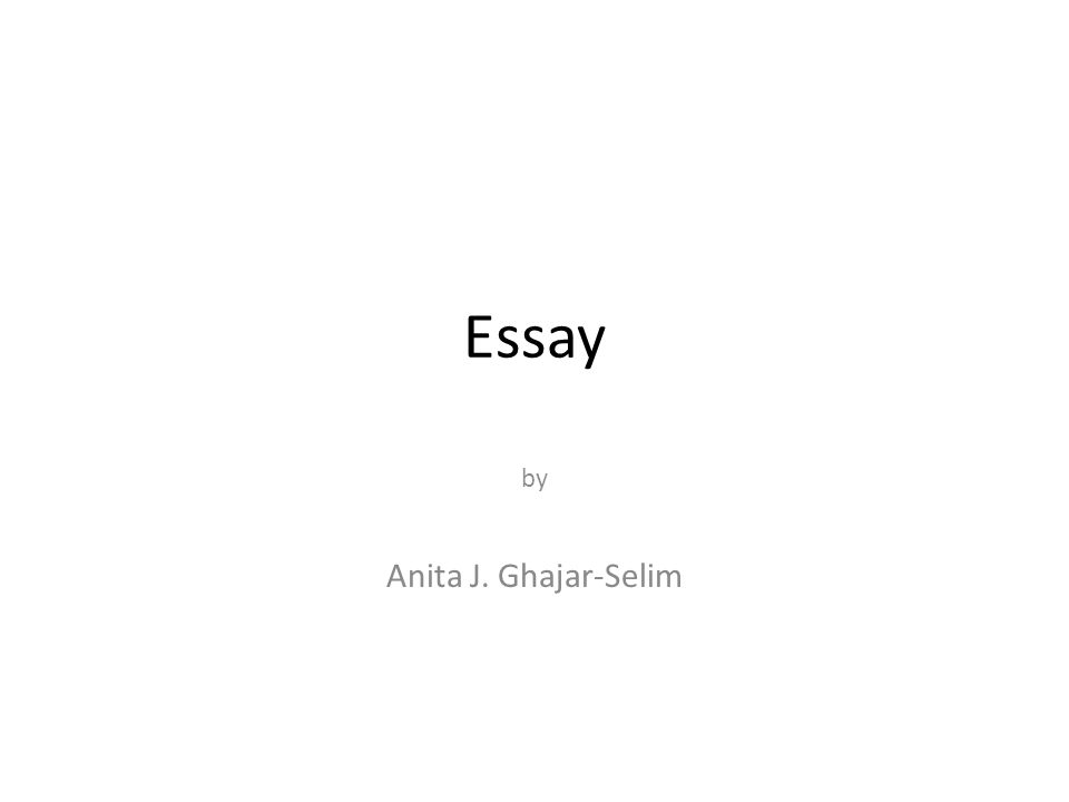 Introductory Paragraph The first paragraph of your essay is called the introductory paragraph.
